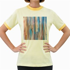 Vertical Abstract Contemporary Women s Fitted Ringer T-Shirts