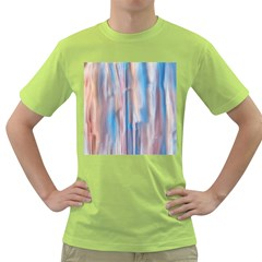 Vertical Abstract Contemporary Green T-Shirt