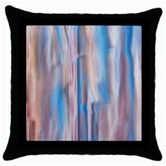 Vertical Abstract Contemporary Throw Pillow Case (Black)