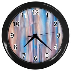Vertical Abstract Contemporary Wall Clocks (Black)