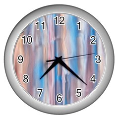 Vertical Abstract Contemporary Wall Clocks (Silver)