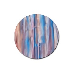 Vertical Abstract Contemporary Rubber Coaster (Round)