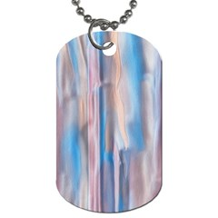 Vertical Abstract Contemporary Dog Tag (One Side)
