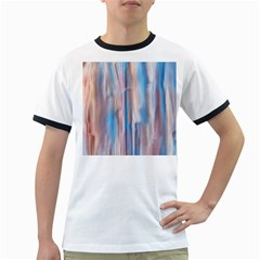 Vertical Abstract Contemporary Ringer T-Shirts