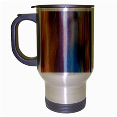 Vertical Abstract Contemporary Travel Mug (Silver Gray)