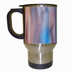 Vertical Abstract Contemporary Travel Mugs (White)