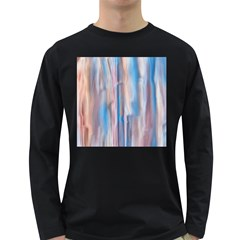 Vertical Abstract Contemporary Long Sleeve Dark T-Shirts