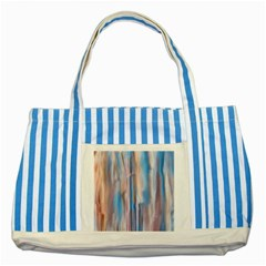 Vertical Abstract Contemporary Striped Blue Tote Bag