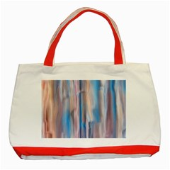 Vertical Abstract Contemporary Classic Tote Bag (Red)