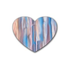 Vertical Abstract Contemporary Rubber Coaster (Heart)