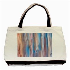 Vertical Abstract Contemporary Basic Tote Bag (Two Sides)