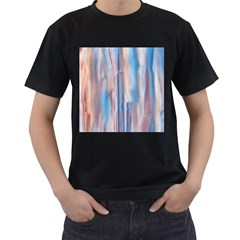 Vertical Abstract Contemporary Men s T-Shirt (Black)