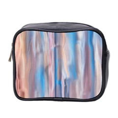 Vertical Abstract Contemporary Mini Toiletries Bag 2-Side