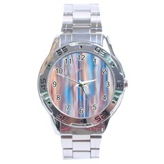 Vertical Abstract Contemporary Stainless Steel Analogue Watch