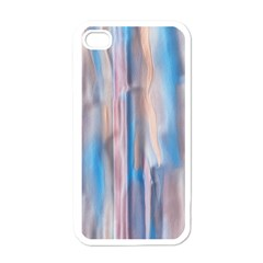 Vertical Abstract Contemporary Apple iPhone 4 Case (White)