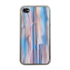 Vertical Abstract Contemporary Apple iPhone 4 Case (Clear)