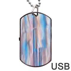 Vertical Abstract Contemporary Dog Tag USB Flash (Two Sides)