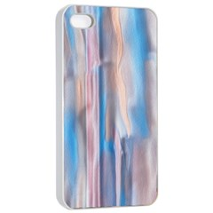 Vertical Abstract Contemporary Apple iPhone 4/4s Seamless Case (White)