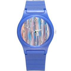 Vertical Abstract Contemporary Round Plastic Sport Watch (S)