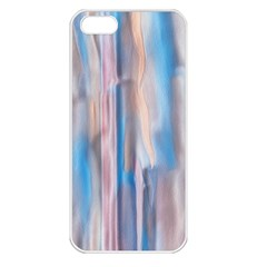 Vertical Abstract Contemporary Apple iPhone 5 Seamless Case (White)