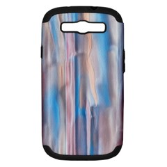 Vertical Abstract Contemporary Samsung Galaxy S III Hardshell Case (PC+Silicone)