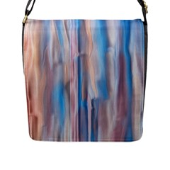 Vertical Abstract Contemporary Flap Messenger Bag (L)