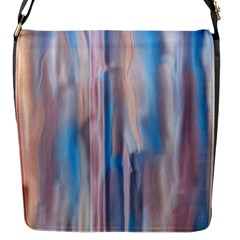 Vertical Abstract Contemporary Flap Messenger Bag (S)