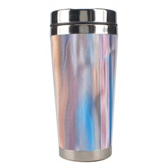 Vertical Abstract Contemporary Stainless Steel Travel Tumblers