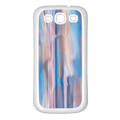 Vertical Abstract Contemporary Samsung Galaxy S3 Back Case (White)