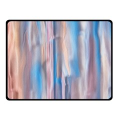Vertical Abstract Contemporary Double Sided Fleece Blanket (Small)
