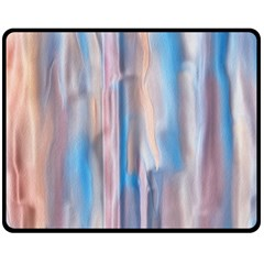 Vertical Abstract Contemporary Double Sided Fleece Blanket (Medium)