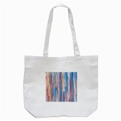 Vertical Abstract Contemporary Tote Bag (White)