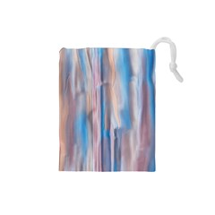 Vertical Abstract Contemporary Drawstring Pouches (Small)