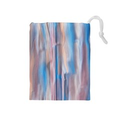 Vertical Abstract Contemporary Drawstring Pouches (Medium)