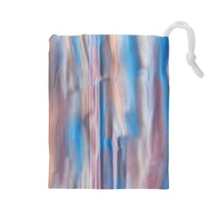 Vertical Abstract Contemporary Drawstring Pouches (Large)