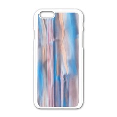 Vertical Abstract Contemporary Apple iPhone 6/6S White Enamel Case