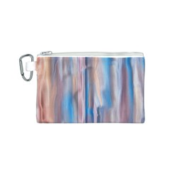 Vertical Abstract Contemporary Canvas Cosmetic Bag (S)