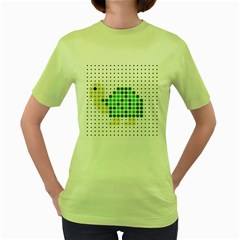 Colored Turtle Women s Green T-Shirt