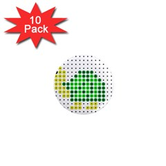 Colored Turtle 1  Mini Magnet (10 pack)