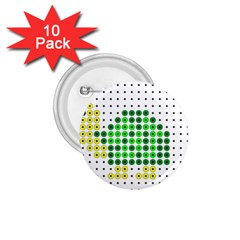 Colored Turtle 1.75  Buttons (10 pack)