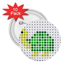 Colored Turtle 2.25  Buttons (10 pack)