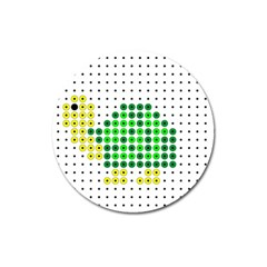 Colored Turtle Magnet 3  (Round)