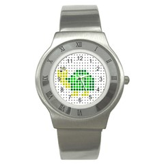 Colored Turtle Stainless Steel Watch