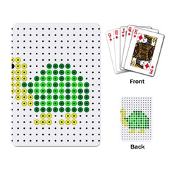 Colored Turtle Playing Card