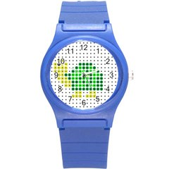 Colored Turtle Round Plastic Sport Watch (S)