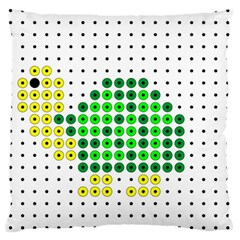 Colored Turtle Large Cushion Case (One Side)