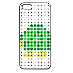 Colored Turtle Apple iPhone 5 Seamless Case (Black)