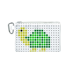 Colored Turtle Canvas Cosmetic Bag (S)