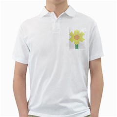 Colored Flowers Golf Shirts