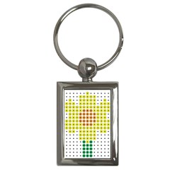 Colored Flowers Key Chains (Rectangle)